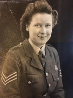 Margaret Greaves in uniform