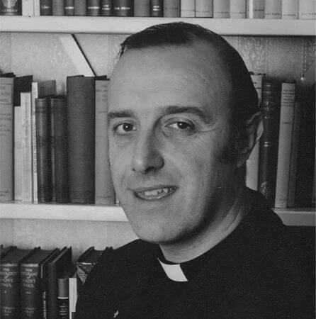 Black and white photo of John as a young ordained minister