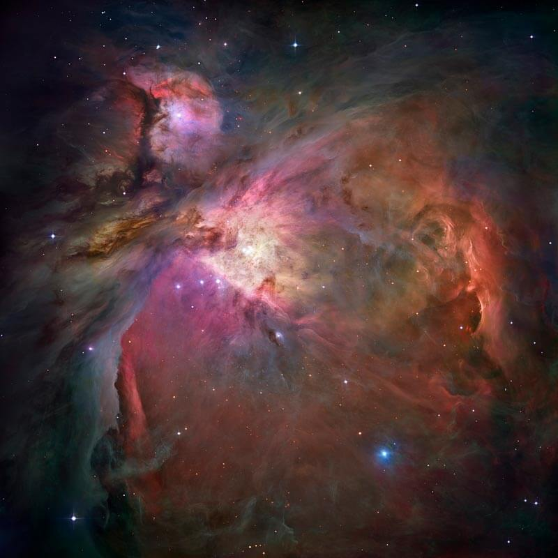 Orion Nebula seen through the Hubble Telescope