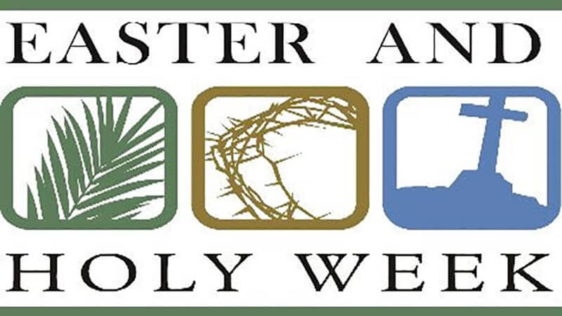 Graphic for Holy Week and Easter