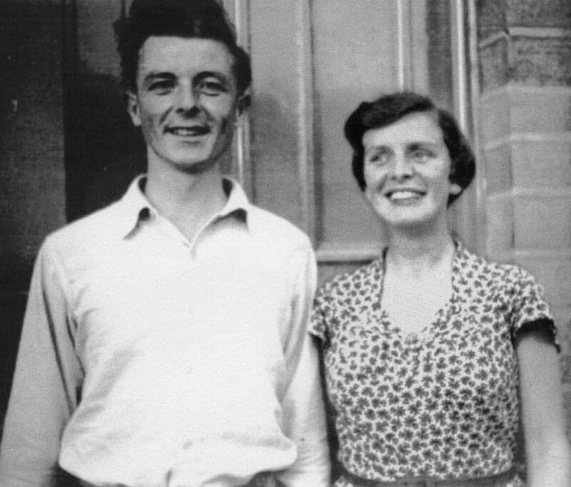 Black and white photograph of Colin and Eleanor in their youth
