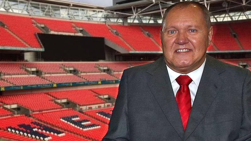 Phil Downs at Wembley Stadium
