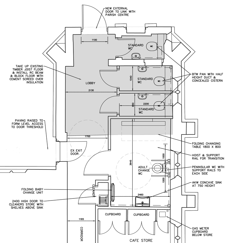 Plan of proprosed new accessible toilet