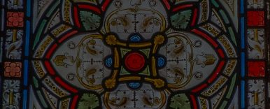 Detail of stained glass window from St James Church