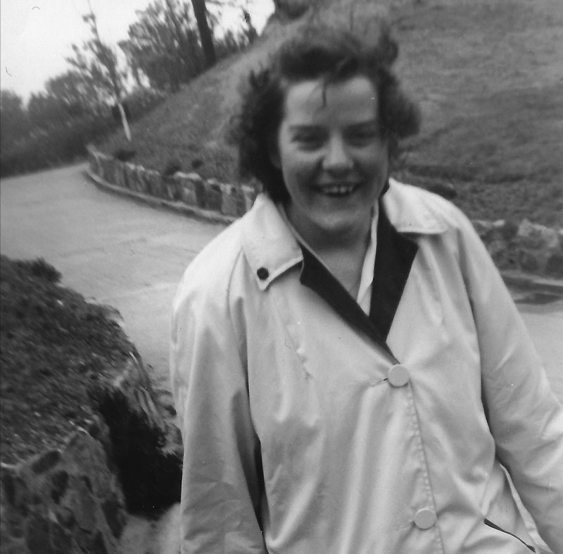 Denise at Sidmouth in 1964