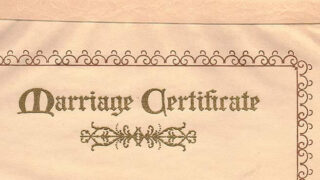An official marriage certificate